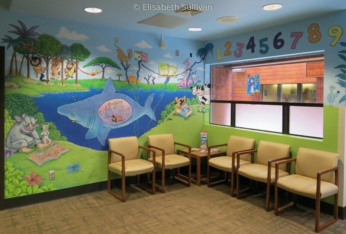 Mural for Pediatric waiting room reading corner. (large view)