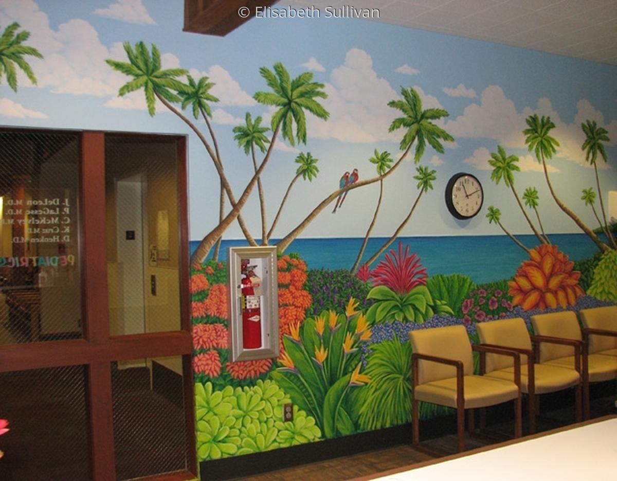 Mural in pediatric waiting room (large view)
