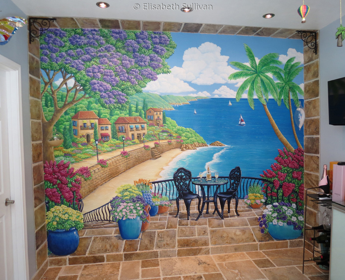 Dining Room Mural in Private Residence (large view)