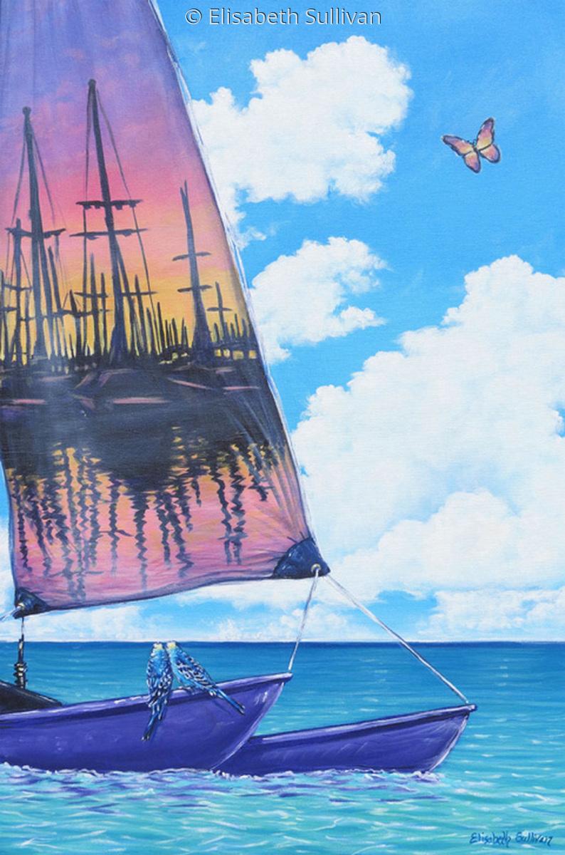 """Sunset Sail"" (large view)"