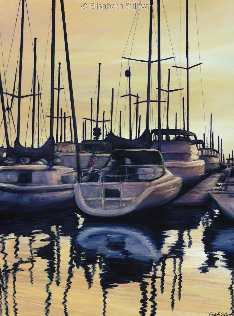 """Sailboat Reflections"" (large view)"