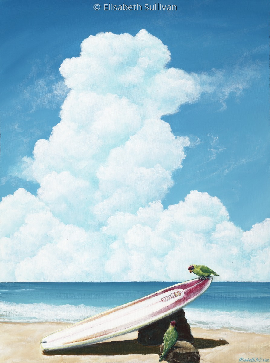 """""""Waiting for Surf"""" (large view)"""