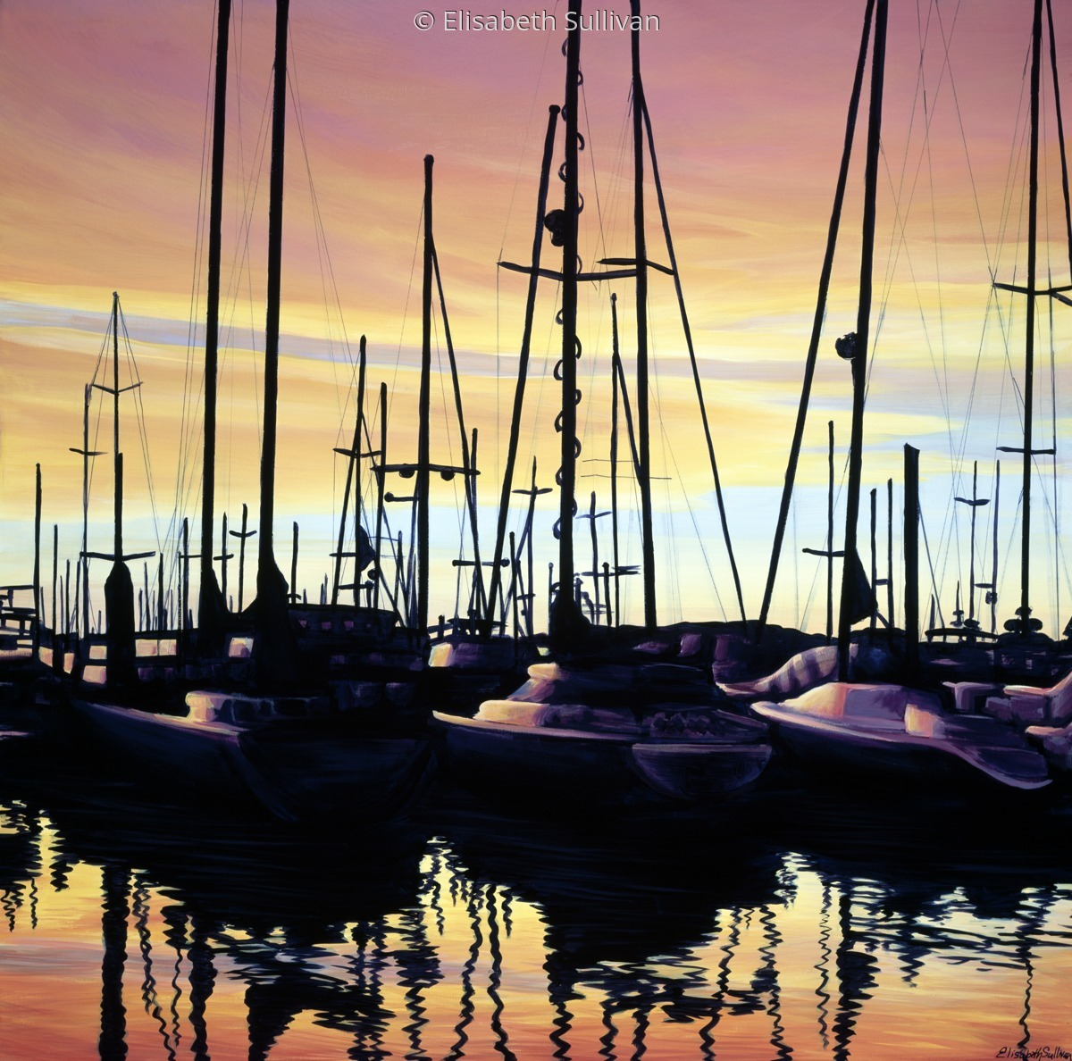 """Harbor Sunset"" (large view)"