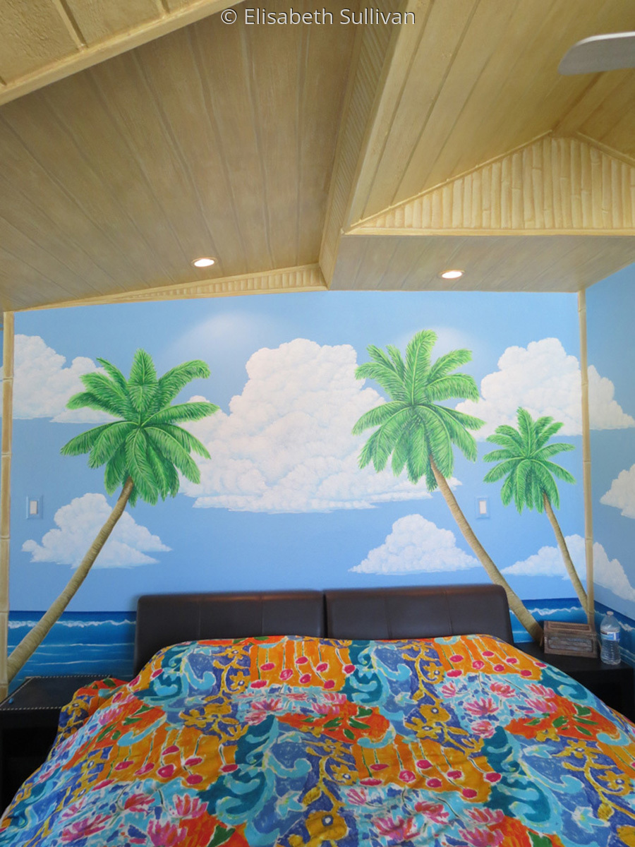 Bedroom Hut Mural (large view)
