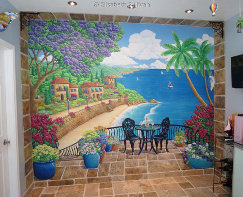 Dining Room Mural in Private Residence