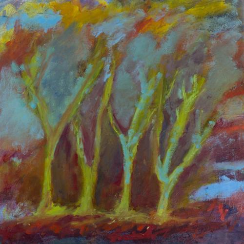 Four Vibrant Trees