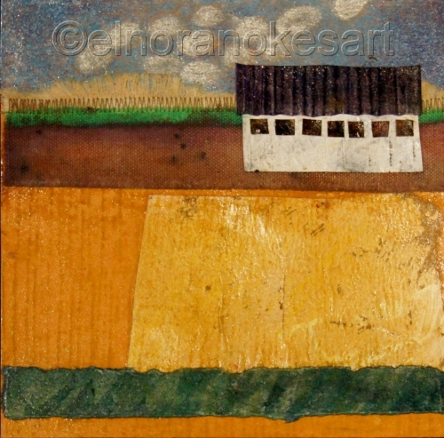 Barn with Yellow Field