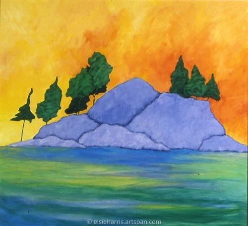 Rock Island Pines by elsieharris.artspan.com