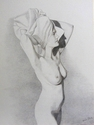 drawings,gold metal point,nude, Eric Black,metalpoint, metal point - Nude Drawing