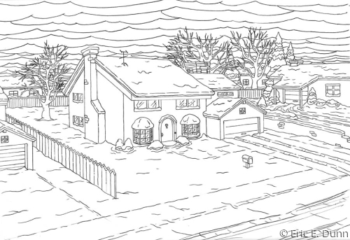 "Background layout for ""The Simpsons"""