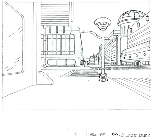 "Background layout for ""Futurama"""