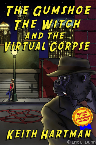 Cover Art,  <br>  The Gumshoe, The Witch and The Virtual Corpse