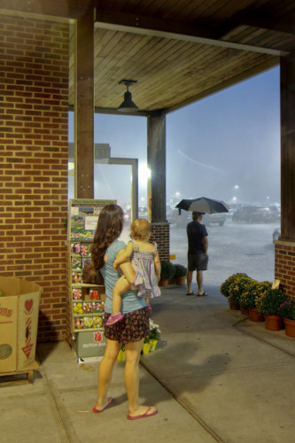 Downpour Outside Whole Foods, West Orange, NJ, 2013