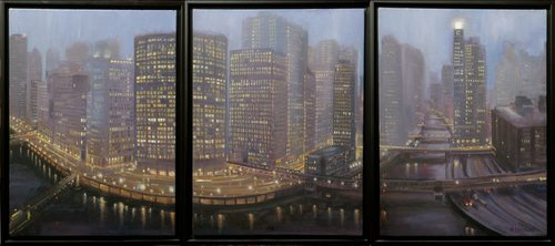 Chicago River Triptych