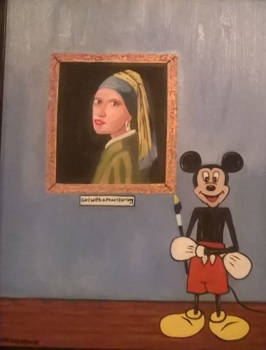 Mickey mouse painter