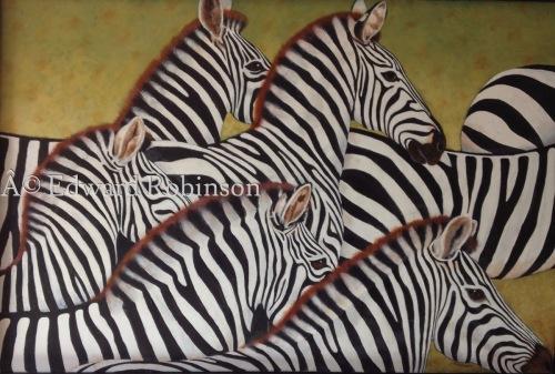 Zebras 7 by Ed Robinson