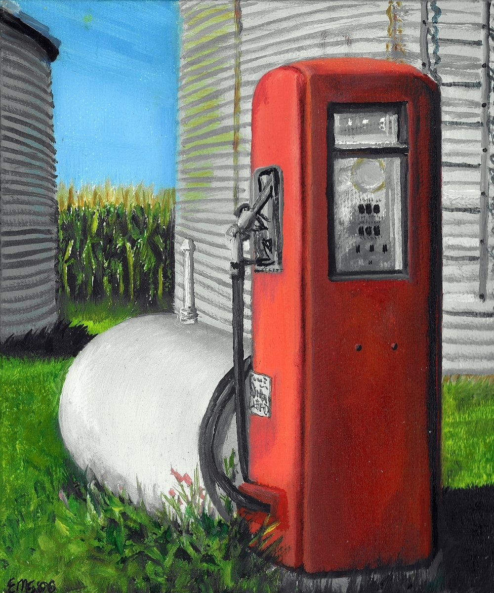 The Old Gas Pump, Iowa (large view)