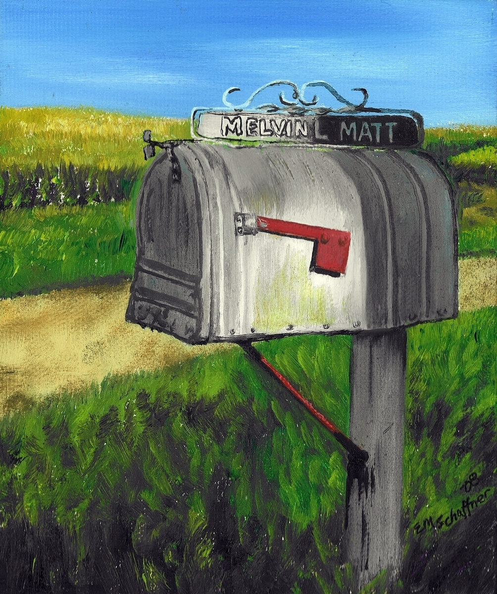 Melvin's Mailbox, Iowa (large view)