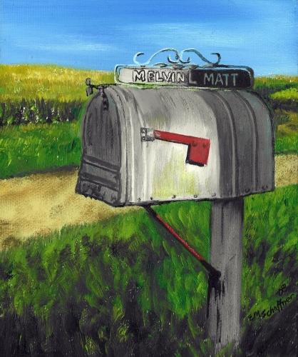 Melvin's Mailbox, Iowa by Elaine Matt Schaffner