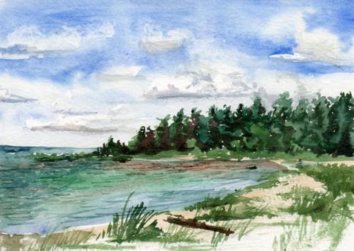 Lake Huron by Elaine Matt Schaffner