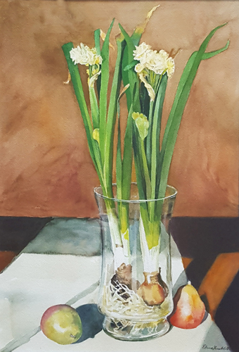 Narcissus and Pears