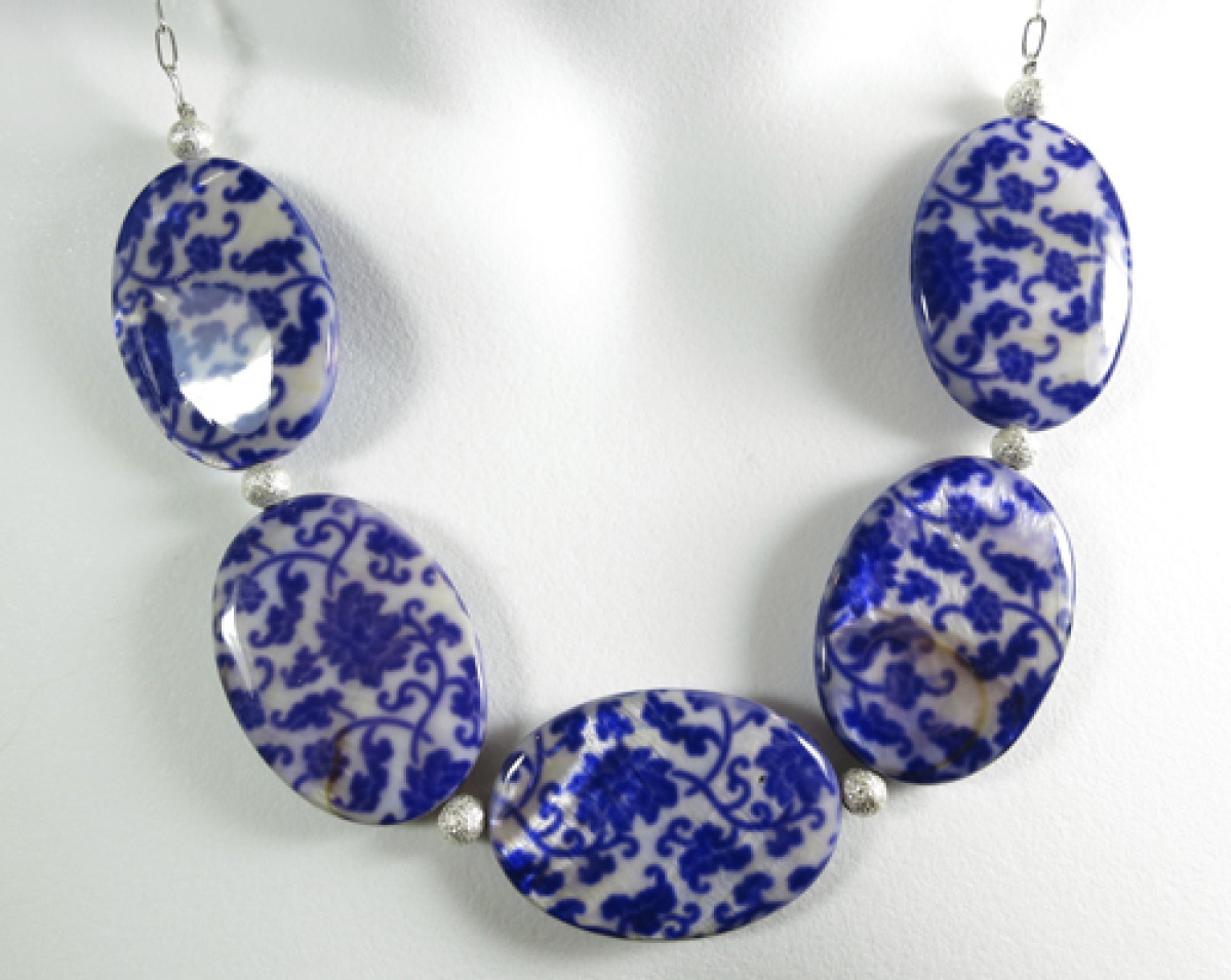 My Dynasty Porcelain Print Necklace  (large view)