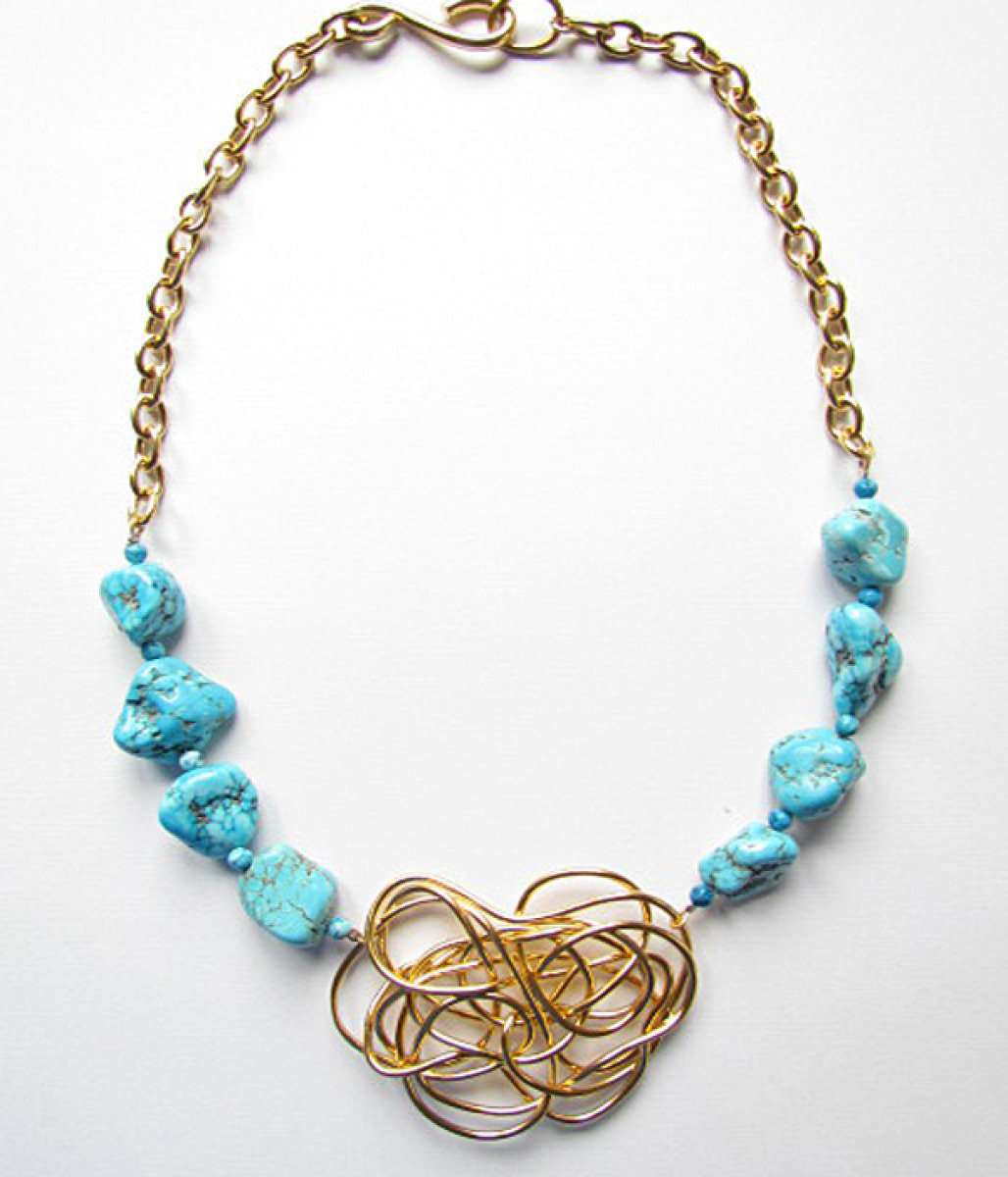 Sherazade Turquoise Necklace  (large view)