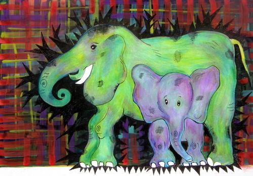 Plaid Elephant