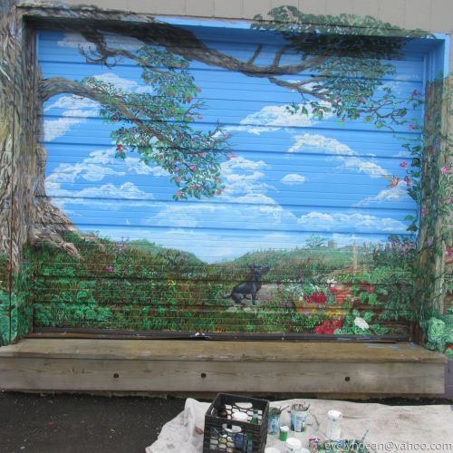 Mural at Morning Glory, Brunswick Maine