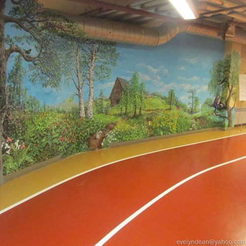 Brunswick Recreation center mural