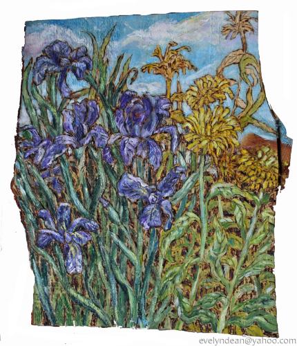 Iris and Calendula