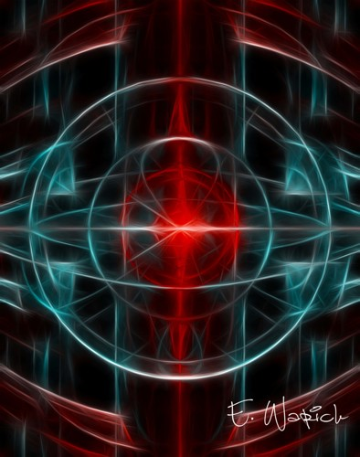 Lady Red Light abstract art print
