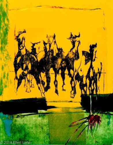 Horses on Yellow [SOLD]
