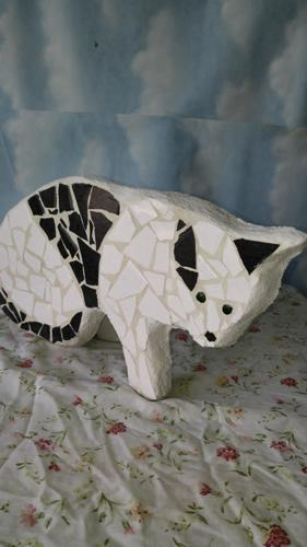 Mosaic cat /flower pot