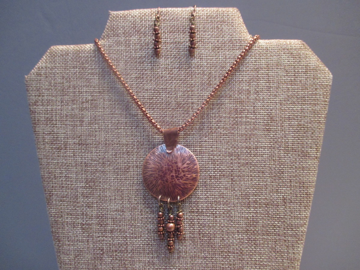 Burnt Copper Necklace (large view)