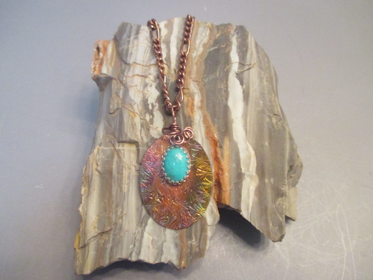 Copper Patina /Kingman Turquoise Necklace (large view)