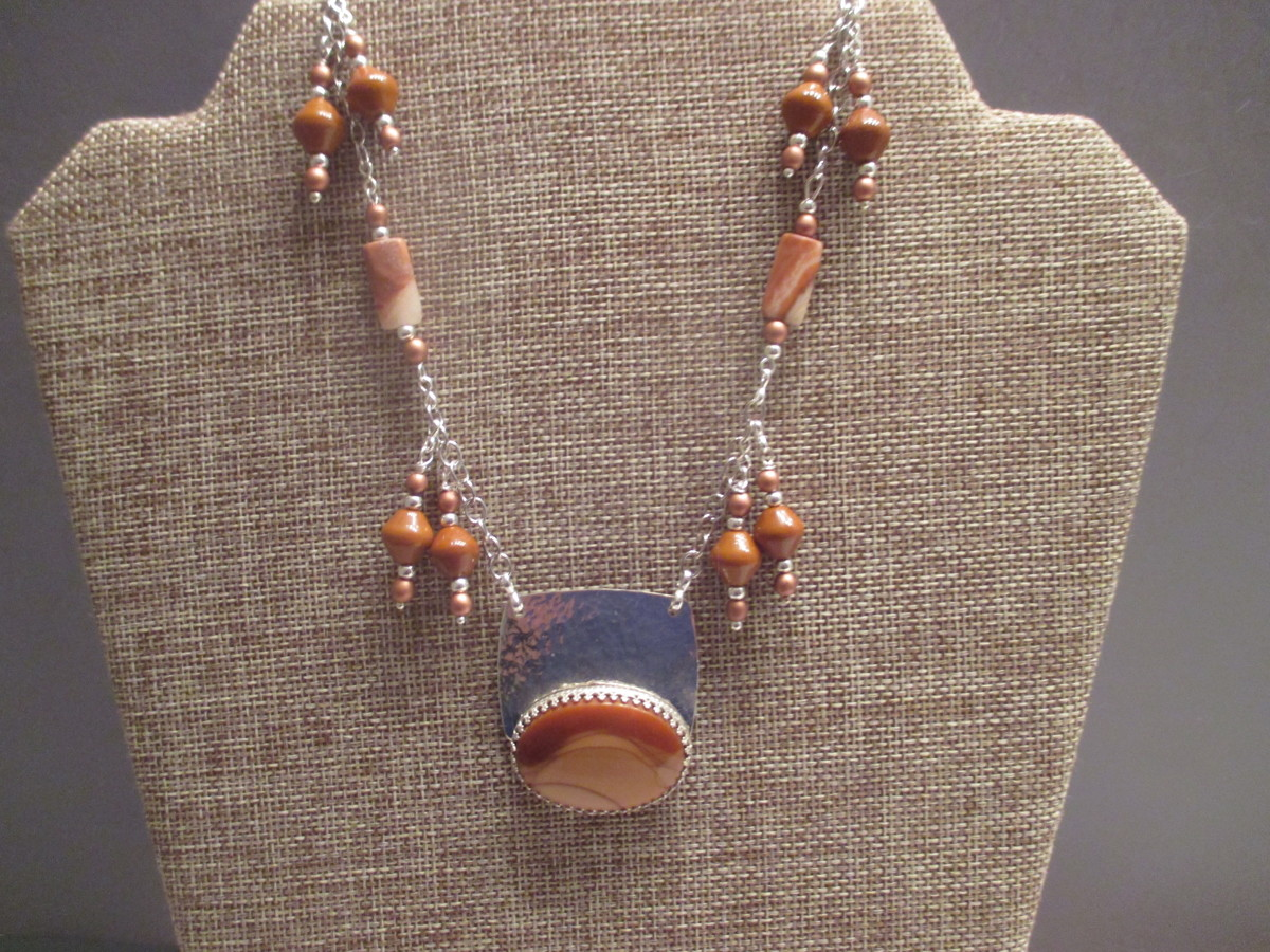 Mookaite Jasper Necklace (large view)