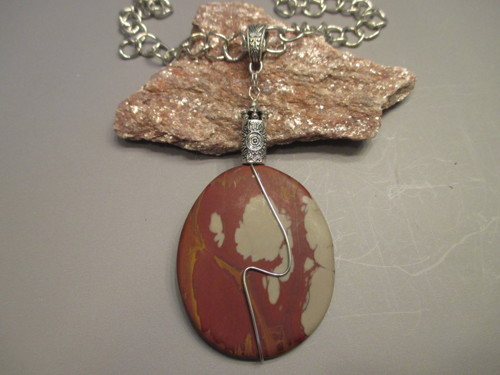 Noreena Jasper Necklace by Fairywings Jewelry and Gems