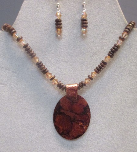 Colors of Copper and Brown Set by Fairywings Jewelry and Gems