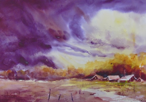 Passing storm by Fatima Figueiredo