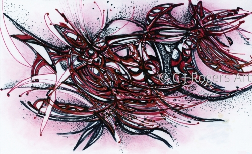 Pen and Ink Drawing Abstract