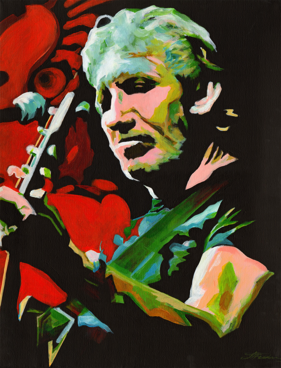 painting roger waters breaking the wall original art by tanya filichkin. Black Bedroom Furniture Sets. Home Design Ideas