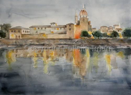 River Arno at Dusk