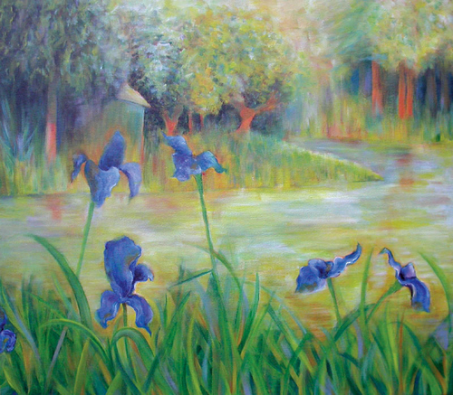 Irises on The Lake
