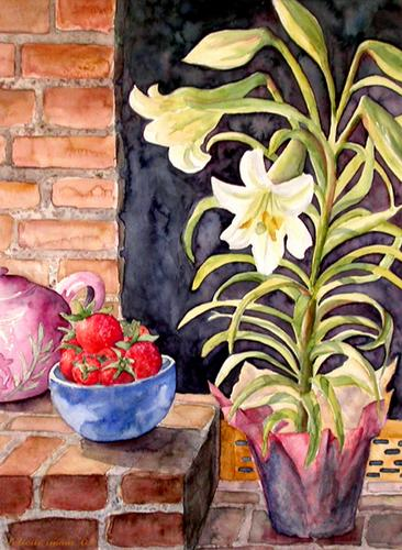 Lilies and Strawberries