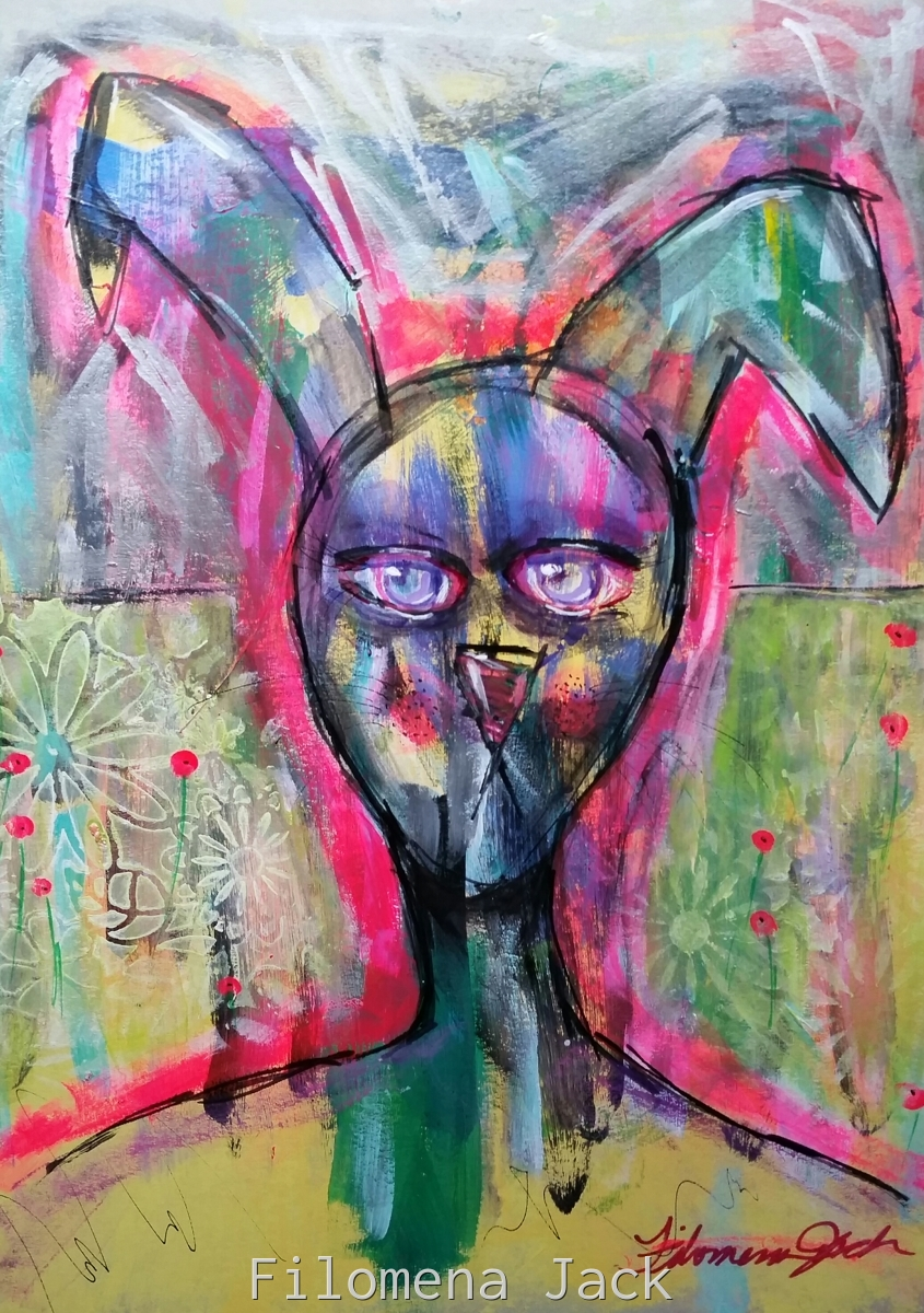 Disapproving Rabbit, pink (large view)