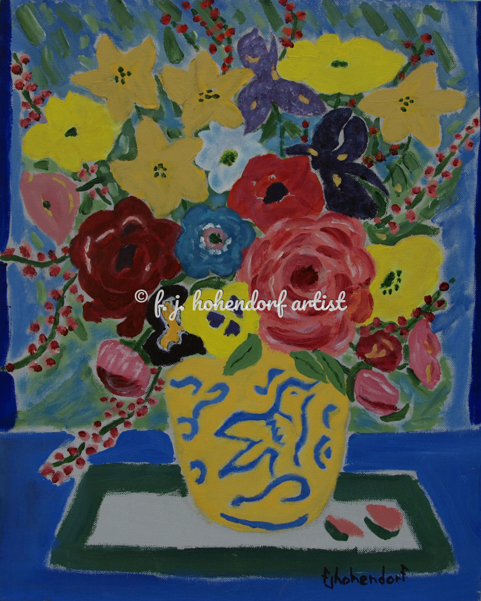Floral Abstract In Acrylic (large view)