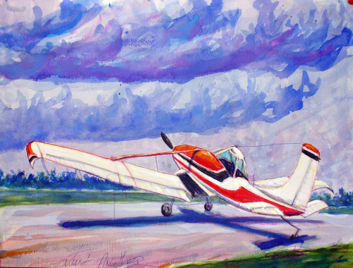 Sam Dyer's Crop Duster (Just Another Watercolor) (large view)