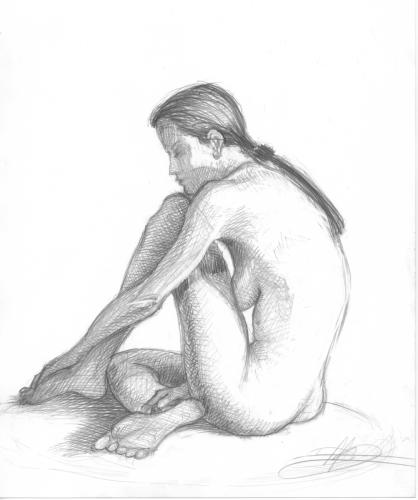 A Quiet Moment by Floyd Alsbach, Stuckist Painter