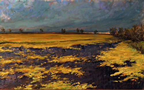 Mossy Pond Just Before Thunderstorm by Floyd Alsbach, Stuckist Painter